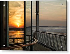 Acrylic Print featuring the photograph Reflections Of A Chesapeake Sunset by Bill Swartwout