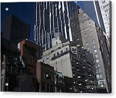 Reflections Of A City Acrylic Print by Karol Livote