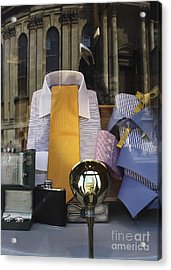 Acrylic Print featuring the photograph Reflections Of A Gentleman's Tailor by Terri Waters