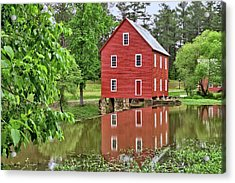 Reflections Of A Retired Grist Mill Acrylic Print