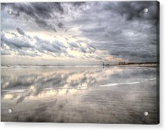 Reflections Of Amelia Island Acrylic Print by Wade Brooks