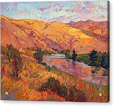Acrylic Print featuring the painting Reflections Of August by Erin Hanson