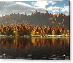 Reflections Of Autumn Acrylic Print by Melissa Krauss