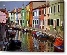 Reflections Of Burano Acrylic Print