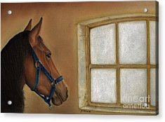 Reflections Of Days Gone By Acrylic Print by Sheryl Unwin