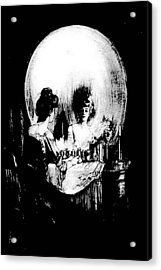 Reflections Of Death After Gilbert Acrylic Print by Tracey Harrington-Simpson