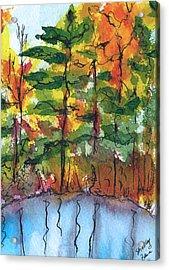 Reflections Of Fall Acrylic Print by Shelley Bain