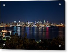 Reflections Of Midtown Manhattan Acrylic Print