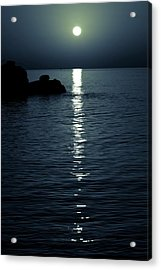 Reflections Of Moon Acrylic Print by Wladimir Bulgar