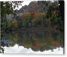 Reflections Of Pittston Acrylic Print