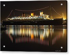 Reflections Of Queen Mary Acrylic Print by Heidi Smith