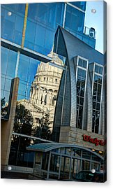 Reflections Of The Capitol Acrylic Print by Janice Adomeit