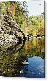 Reflections Of The  Acrylic Print by John Saunders