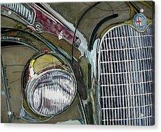 Acrylic Print featuring the painting Reflections On 1931 Alfa Romeo Milano by Anna Ruzsan
