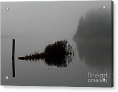Reflections On A Lake Acrylic Print by Rich Collins