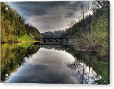 Reflections On Adda River Acrylic Print
