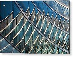 Reflections On Building Windows Acrylic Print by Artur Bogacki
