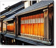 Reflections On Geisha Houses - Kanazawa City - Japan Acrylic Print