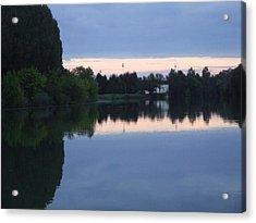 Reflections On La Saone Acrylic Print