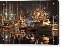 Reflections On The Bay Acrylic Print by Kim Mobley