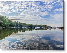 Reflections On The Magothy River Acrylic Print