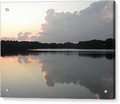 Reflections On The Pond Acrylic Print by Kate Gallagher