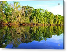 Reflections On The River Acrylic Print