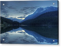 Reflections On Two Jack Lake Acrylic Print
