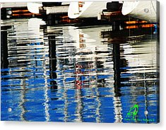 Reflections Sausalito California Acrylic Print