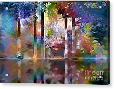 Reflections Acrylic Print by Ursula Freer