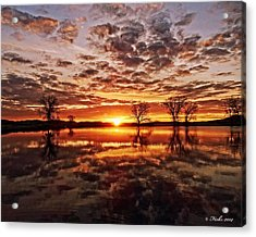 Acrylic Print featuring the photograph Reflective Dawn by Fiskr Larsen