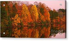 Reflective Lake Nockamixon Pano - Twilight Acrylic Print