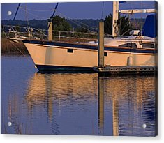 Acrylic Print featuring the photograph Reflective Mood by Laura Ragland