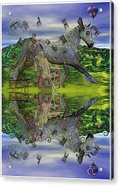 Reflective Oz Acrylic Print by Betsy Knapp