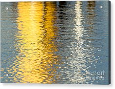 Reflective Water Colors Acrylic Print by Kelly Morvant