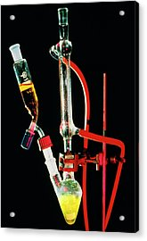 Reflux Apparatus To Boil Reaction Mixture Acrylic Print by David Taylor/science Photo Library