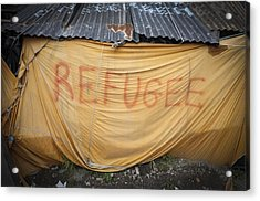 Refugee Tent In The Jungle Calais Acrylic Print by Phil Le Gal