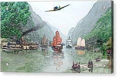 Refugees On The Yangtze Acrylic Print