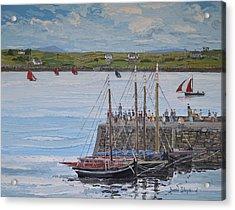 Regatta At Roundstone Harbour Connemara Acrylic Print