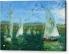 Acrylic Print featuring the photograph Regatta Day by Julie Lueders