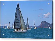 Acrylic Print featuring the photograph Reggata by Debbie Cundy