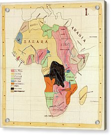 Regions Of Africa Acrylic Print by Library Of Congress, Geography And Map Division
