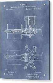 Regulator For Dynamo Electric Machine Patent Acrylic Print by Dan Sproul