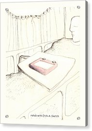 rehab with Etch-A-Sketch Acrylic Print by Alan McCormick