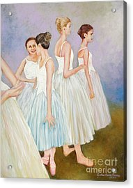 Acrylic Print featuring the painting Rehearsal by Cynthia Parsons