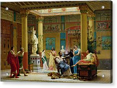 Rehearsal Of The Fluteplayer And The Diomedes Wife In The Atrium Of The Pompeian House Of Prince Acrylic Print by Gustave Clarence Rodolphe Boulanger