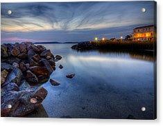 Rehoboth Bay Sunset At Dewey Beach Acrylic Print