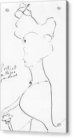 Rejane Acrylic Print by Marcel Proust