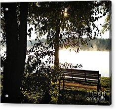 Relax And Enjoy The View Acrylic Print by Nancy E Stein