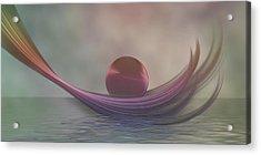Acrylic Print featuring the digital art Relax by Gabiw Art